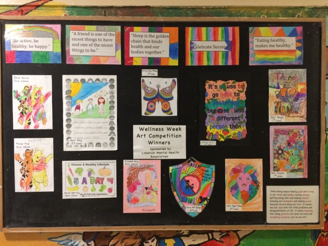 "Posters created by one of the classes in Corpus Christi for their wellness week which incorporated elements of the HSE's ""Little Things"" campaign."