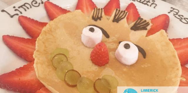 smiley pancake campaign for Limerick mental health association 2018