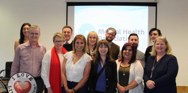 photo of the board, and staff at launch of Limerick Mental Health Association's Strategic Plan