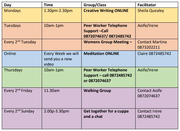 Le Cheile Aug Timetable
