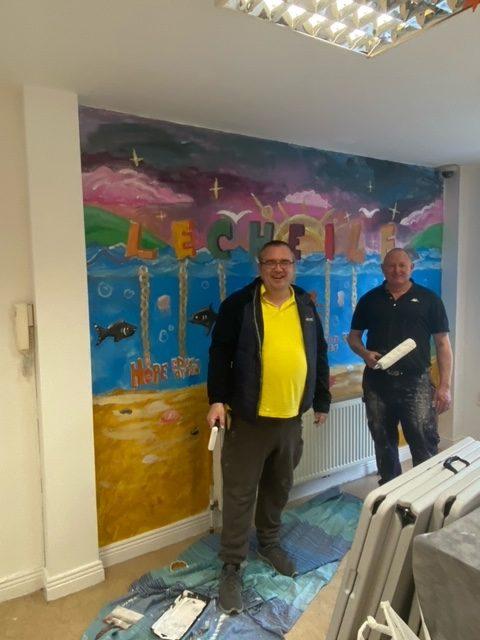 Garryowen Residents Association paiting our premises at 3 Sexton St