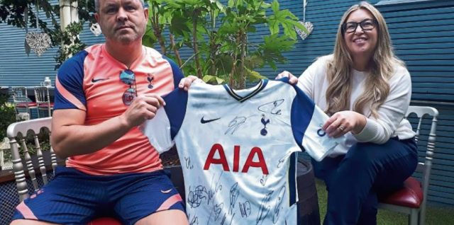 Win a signed framed Tottenham Hotspur Jersey, in aid of LMHA!
