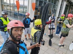 LMHA Young Shedder's & LMHA Migrant group ready to start kayaking