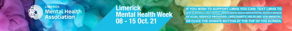 Limerick Mental Health Week Oct 8th - 15th