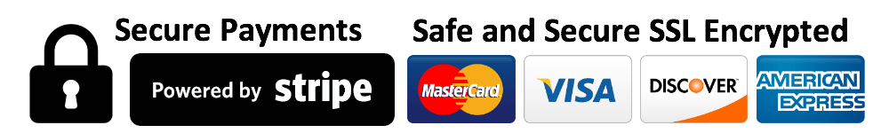 Secure payments, powered by Stripe.