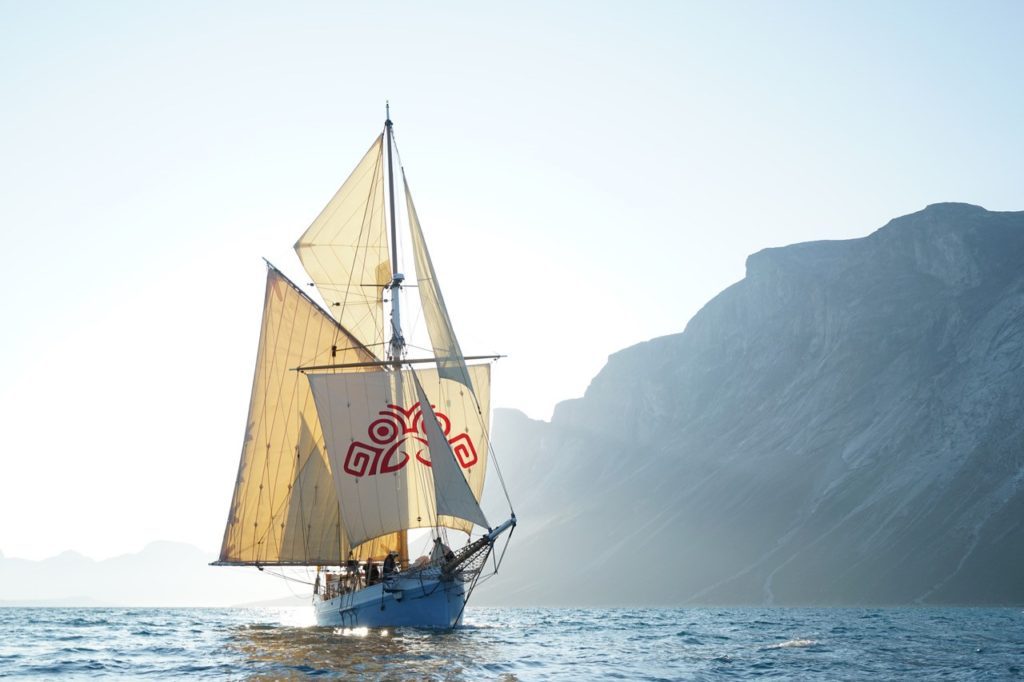 The Ilen, Ireland's last traditional wooden sailing ship, which will sail from the Shannon Estuary to the Clayton Hotel to mark the launch of Limerick Mental Health Week 2021
